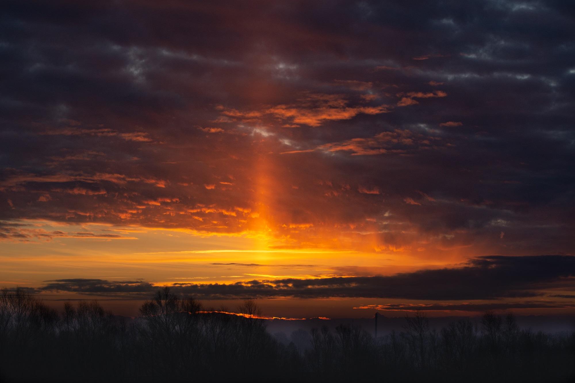 Sonnenaufgang in Laage